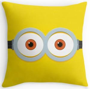 Two Eye Minion Face Throw Pillow