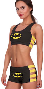 Batman Bra And Shorts Panties Set
