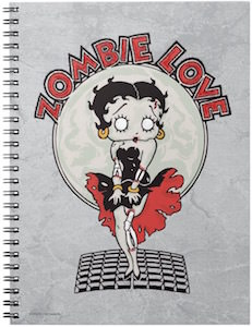 Betty Boop Zombie Love Notebook