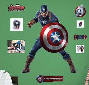 Captain America Age Of Ultron Wall Decal