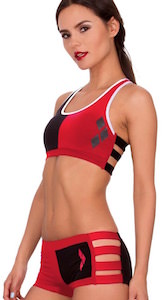 Women's Harley Quinn Bra and Panty Set