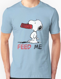 Snoopy Feed Me T-Shirt
