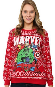 Marvel Superhero Christmas Sweater