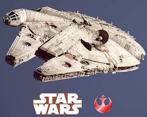 Millennium Falcon Wall Decal