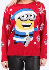 Running Minion Christmas sweater