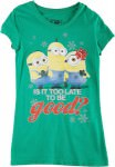 Despicable Me Minion Is It To Late To Be Good Girls Christmas T-Shirt