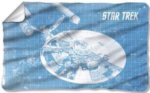 Star Trek Starship Enterprise Fleece Blanket
