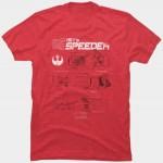 Star Wars Rey's Speeder Blueprint T-Shirt