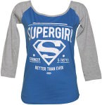 Supergirl Baseball T-Shirt