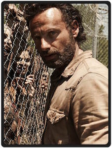 The Walking Dead Rick Grimes And A Fence Of Walkers Blanket