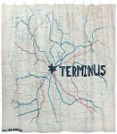 The Walking Dead Terminus Map Shower Curtain