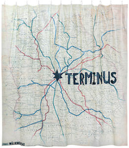 Terminus Map Shower Curtain