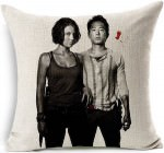 The Walking Dead Maggie And Glenn Throw Pillow Case