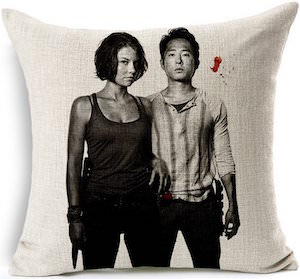 Maggie And Glenn Throw Pillow Case
