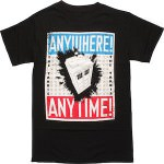 Doctor Who Tardis Anywhere Anytime T-Shirt