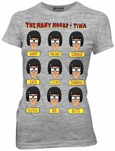 Bob's Burgers The Many Moods Of Tina T-Shirt