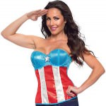 Women's Captain America Sequin Corset Top