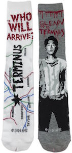 The Walking Dead Glenn And Terminus Socks