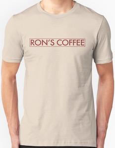 Mr. Robot Ron's Coffee Logo T-Shirt