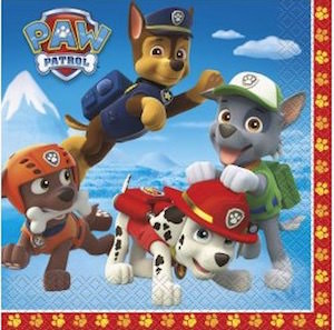 PAW Patrol party napkins