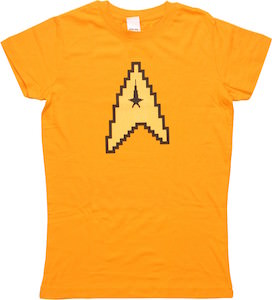 Star Trek 8 Bit Command Logo Women's T-Shirt