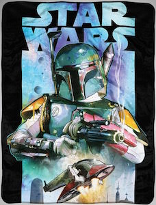 Boba Fett Fleece Blanket