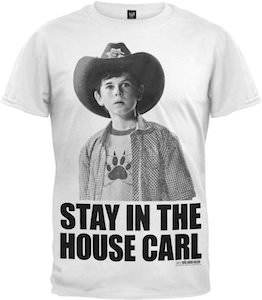The Walking Dead Stay In The House Carl T-Shirt