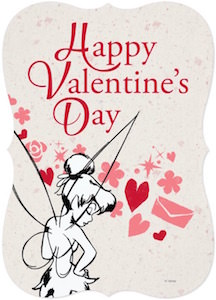 Tinker Bell Happy Valentine's Day Card