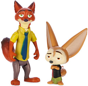 Disney Zootopia Nick Wilde & Finnick Action Figures