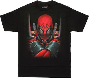 Marvel Deadpool With Arms Crossed T-Shirt