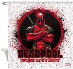 Marvel Deadpool Splatter Shower Curtain