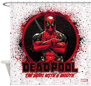 Deadpool Splatter Shower Curtain