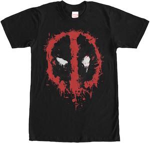 Marvel Deadpool Splatter Logo T-Shirt