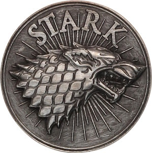 Game of Thrones Stark Direwolf Belt Buckle