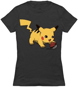 Pokemon T-Shirt With Pikachu And Poke Ball