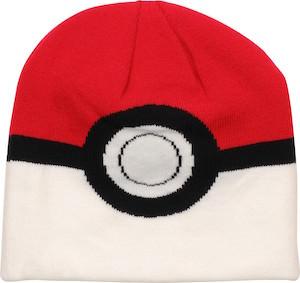 Pokemon Beanie Hat That Looks Like Poke Ball