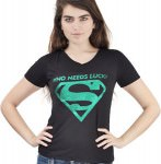 Supergirl Who Needs Luck Logo T-Shirt