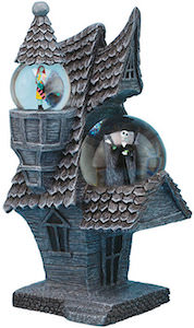The Nightmare Before Christmas Jack And Sally Snow Globe House
