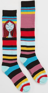 The Nightmare Before Christmas Sally Striped Socks