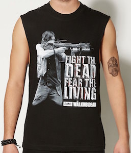 Daryl Fight The Dead Fear The Living Tank Top