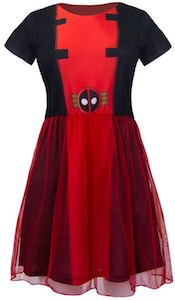 Red Deadpool costume dress