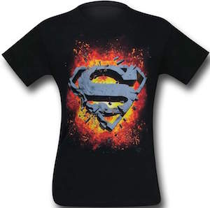Exploding Superman Logo T-Shirt