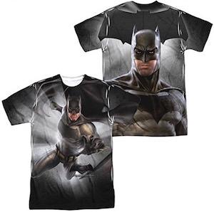 Ben Affleck as Batman on an amazing two side t-shirt