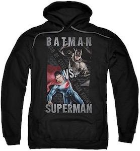 Black Batman VS Superman Hoodie