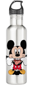 Mickey Mouse Sticking Tongue Out Water Bottle