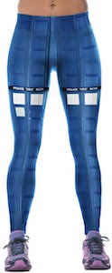 Doctor Who Tardis Leggings With Blue Panels
