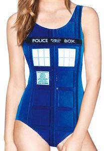 Doctor Who Tardis swimsuit