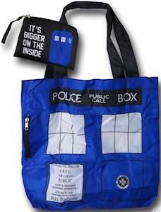 Doctor Who Foldable Tardis Tote Bag