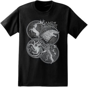 Game of Thrones sigils t-shirt