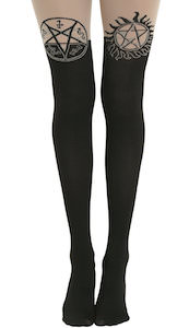 Supernatural Devils Trap And Anti Possession Thigh High Tights